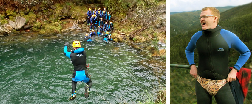 bachelor party canyoning